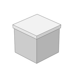 Gift box in outline style vector