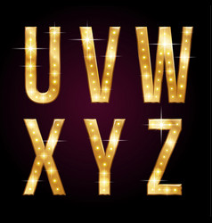 golden shining letters vector image