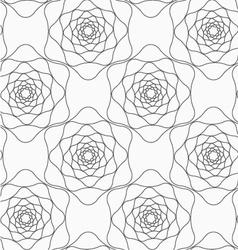 Gray abstract roses vector