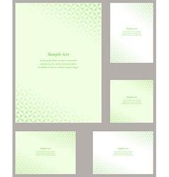 Green page corner design template vector