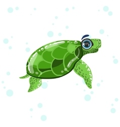 Green Turtle Drawing vector image