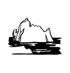 iceberg armada in north sea vector image