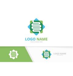 Intestine logo combination unique digestive vector