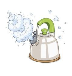 Kettle boil vector
