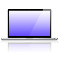 Laptop notebook personal computer vector image