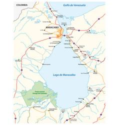 Map venezuelan sea maracaibo lake vector