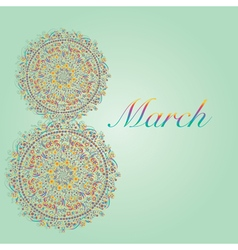 March 8 Womans day greeting card vector image