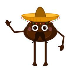 Mexican poop emoji vector