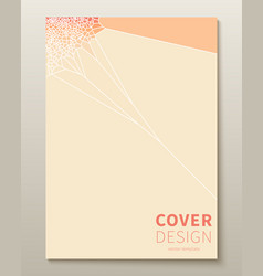 minimal voronoi covers design geometric glass vector image