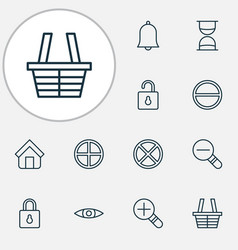 Network icons set collection of glance positive vector