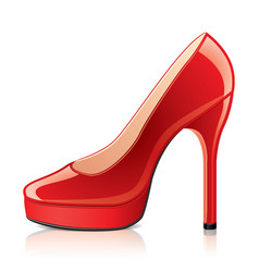 Object red womens shoes vector