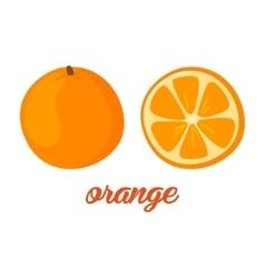 Orange fruits poster in cartoon style depicting vector