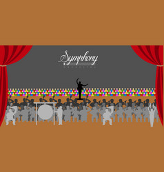 orchestra in a theater vector image