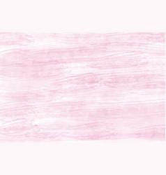 pink pastel dry watercolor brush stroke grunge vector image
