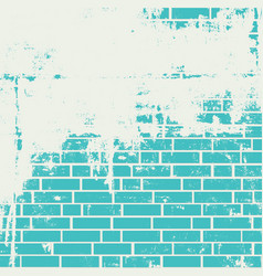 Plastered brick wall vector