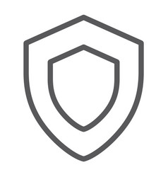 Protection line icon safety and security shield vector
