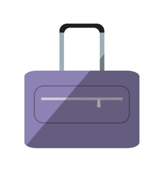 Purple suitcase travel equipment shadow vector