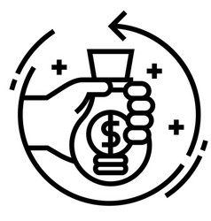 Return investment line vector