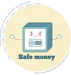 safe money concept in line art style vector image