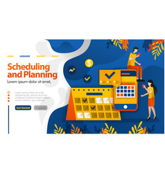 Scheduling and planning apps planning trips vector