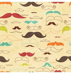 Seamless moustashe background in vintage style vector image