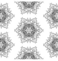 seamless pattern flower mandala vintage vector image