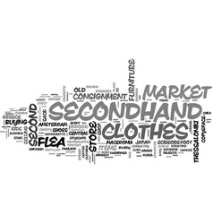 Secondhand word cloud concept vector