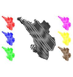 Selangor map vector