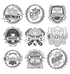 set nine craft beer vector image
