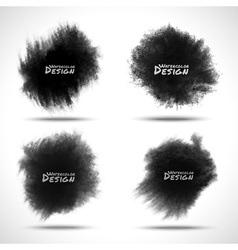 Set of Black Watercolor splatters vector image