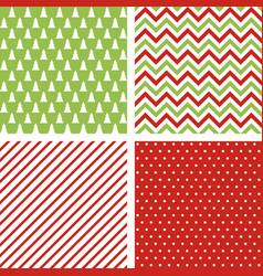 set seamless abstract christmas patterns vector image