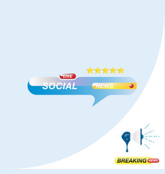 social news icon for journalism of news tv vector image