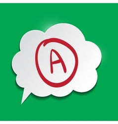 Speak cloud on green background vector image