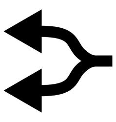 Split Arrows Left Flat Icon vector