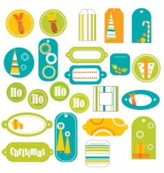 stickers retro vector image