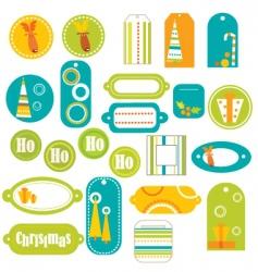 stickers retro vector image vector image