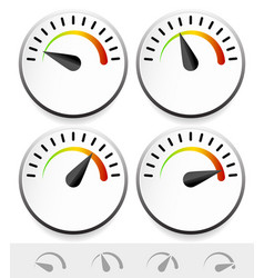 Stylish compact dial templates vector