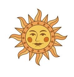 Sun symbol vector image