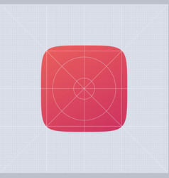 Superellips app ios template red ui button vector