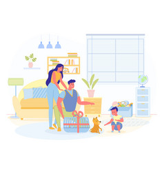 surprise gift son first pet vector image