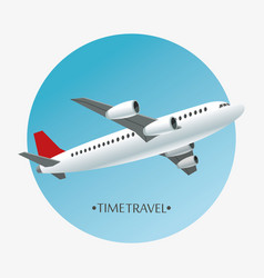 time travel airplane airport concept vector image
