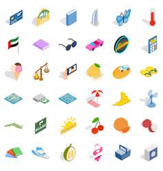 Umbrella icons set isometric style vector