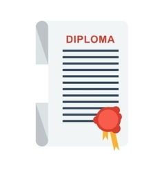 university diploma isolated vector image