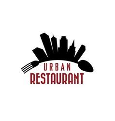 urban restaurant design template vector image