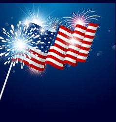 usa 4th july independence day design vector image