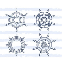 variety ship wheel set vector image