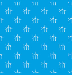 wind turbines pattern seamless blue vector image