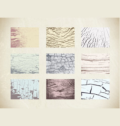 Wood textures set vector