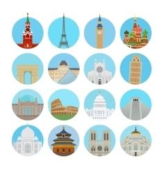 World landmarks icons vector image
