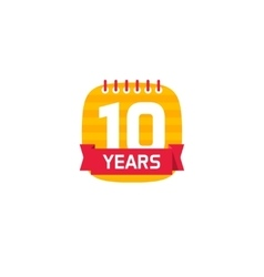 Anniversary 10 calendar logo 10th years icon vector image